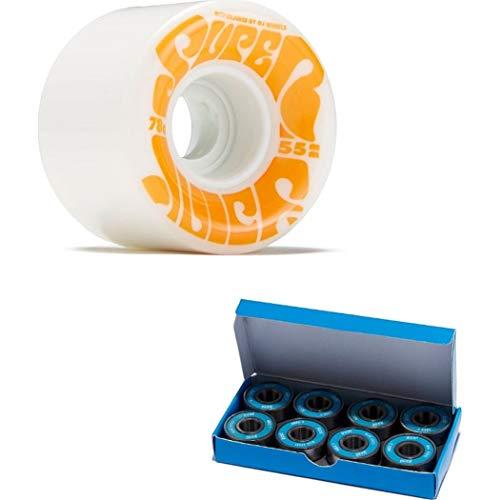 OJ III Skateboard Cruiser Wheels Mini Super Juice White 55mm 78A with CCS ABEC 7 Bearings