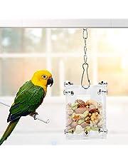 Papuga Foraging zabawka akrylowa klatka dla ptaków karmnik wiszący ptak inteligencja rozwój szkolenie zabawka dla papugi koguta konura afrykański szary kokada