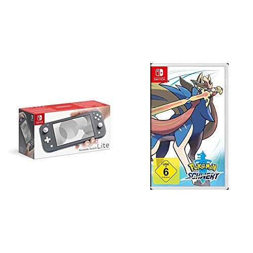 Nintendo Switch Lite Konsole - Standard, grau + Pokémon Schwert