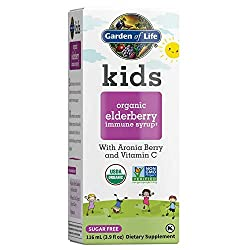 Garden of Life Kids Organic Elderberry Immune Syrup with Vitamin C for Immune Support - Sugar Free S