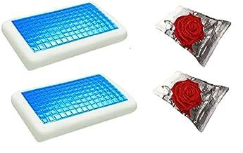 موون مخدة جل الطبية الباردة قطعتين مقاس 70x40 سم مع غطاء وسادة فارغ مقاس 75x50 سم، قطعتين ، KPCM-012