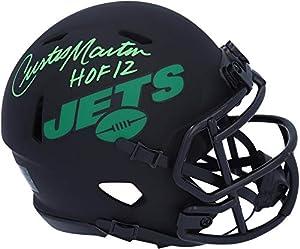 "Curtis Martin New York Jets Autographed Riddell Eclipse Alternate Speed Mini Helmet with""HOF 12"" Inscription - Autographed NFL Mini Helmets"