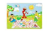 small foot 10978 Sesamstrasse Setzpuzzle Picknick aus Holz, 100% FSC-Zertifiziert, Holzpuzzle für Kinder ab 1 Jahr Spielzeug, Mehrfarbig
