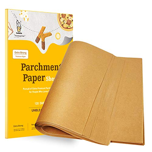 Katbite Parchment Paper Sheets-100, 9x13/12x16/16x24 Inch Parchment Sheets Available, Uses for Baking Cookies, Cooking, Air Fryer, Grilling(12x16 Inch)