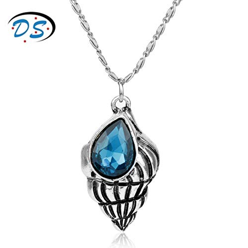 YUNMENG Fashion Clothing Accessories Crystal Seashell Spiral Swirl Sea Snail Pendants Necklaces Woman Choker Necklace