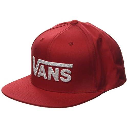 Vans Drop V II Snapback Berretto da Baseball, Rosso (Racing Red Izq), (Taglia Unica: OS) Uomo