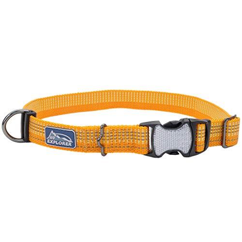 Coastal - K-9 Explorer - Brights Reflective Adjustable Dog Collar, Desert, 1' x 18'-26'
