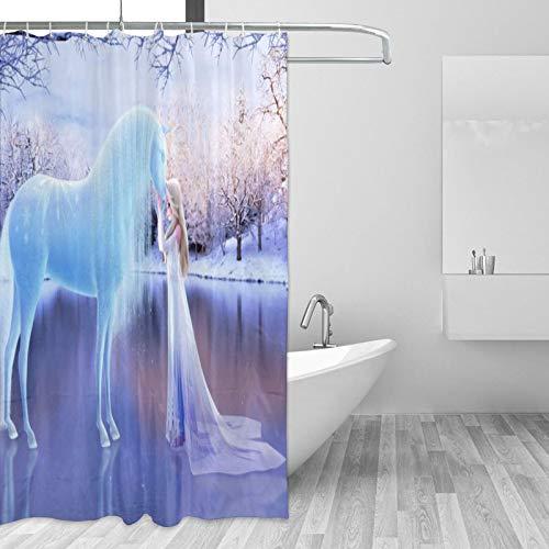 Die Eiskönigin Elsa Duschvorhang 167,6 x 182,9 cm Zimmer Badezimmer Duschvorhang-Sets Kleine Textur Wasserdicht Badvorhang