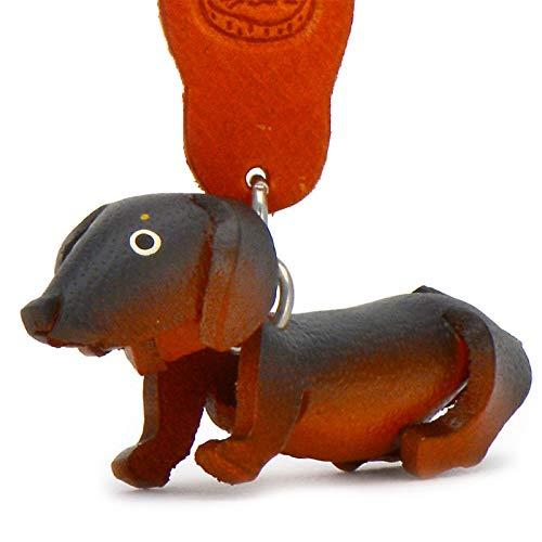 Dachshund llavero Dexter–Perros de piel de monkimau en marrón, negro (5x 2x 4cm LxBxH), cada uno 1pieza
