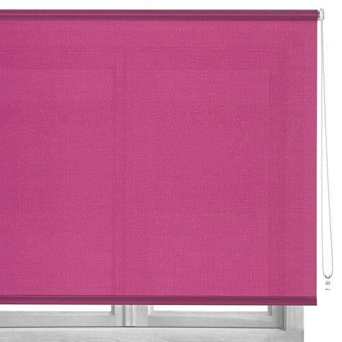 LOLAhome Estor Enrollable de Tela (140 x 180 cm, Rosa)