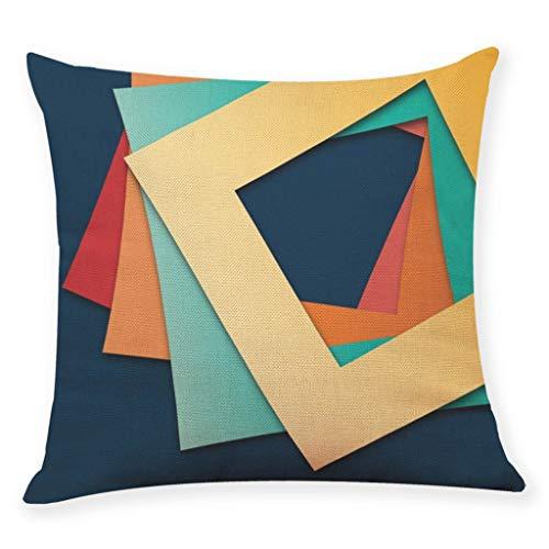 Mamum Taie d'oreiller décoratif Housse de Coussin imprimé La géométrie Housse de Coussin canapé décor à la Maison (B)