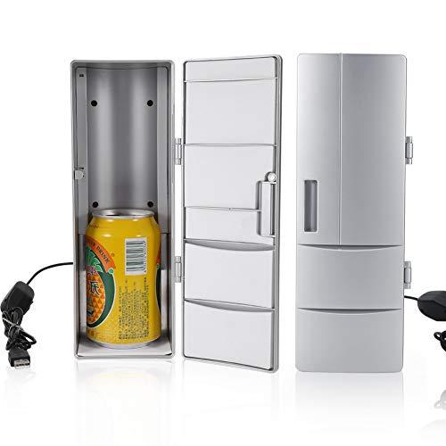 Mini-koelkast, compacte mini-USB-koelkast met vriesvak, blikjes, drinken, bierkoeler, warmers, reizen, auto, kantoorgebruik