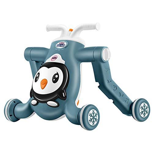 LYY Spaß Interaktiv Baby Walker Anti-O-Bein Multifunktions-Walk-Aid DREI-in-One-Kinder-Roller Yoo Auto Walker Spaß Frühe Pädagogische Spielzeug Die Beste Wahl für Kinder (Color : Pink)