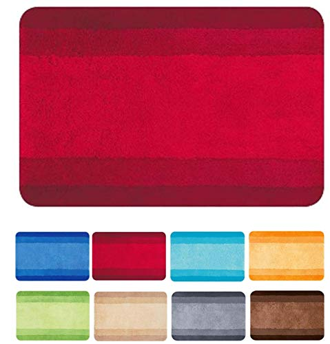 Spirella 10.09213 Balance Tapis de Bain Rouge 60 x 90 cm