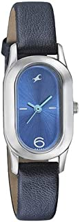 Fastrack Women's Blue Dial Leather Band Watch - 6126SL01