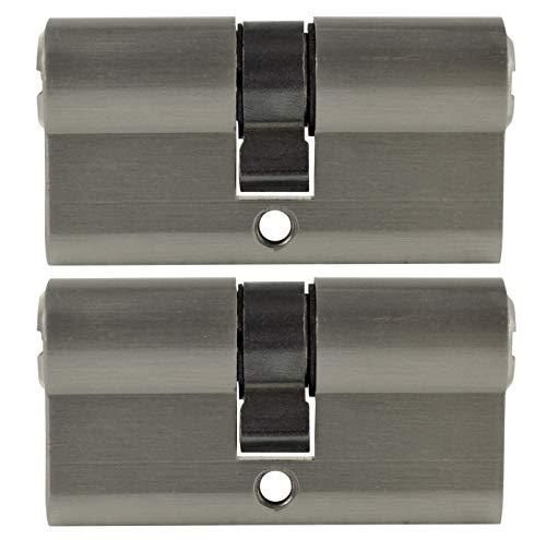 2x Profilzylinder 60mm 30/30 10x Schlüssel Tür Zylinderschloss gleichschließend