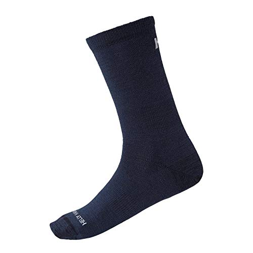 Helly Hansen Damen Merino Light Liner Socken, Navy, 39-41