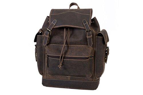 "Rucksack ""BUFFALO"" | Echtes Büffel-Leder | Herren Damen Vintage Daypack Braun | By Alpenleder"