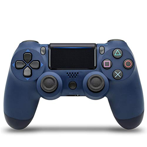 HERAHQ Controlador PS4 Mando inalámbrico, Antideslizante Bluetooth Gamepad Gamepads con función de vibración y Mini luz LED, para Playstation 4 / Notebook/PC,Midnight Blue
