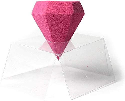 Detazhi Réparation Puff Diamond Cut Sec et Humide Puff Rose Single Pack 4.5cm / Rouge (Color : Red, Size : 4.5cm)