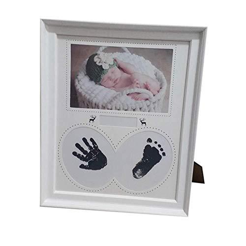 Marcos de imagen Marco de fotos Marco de la foto del bebé recién nacido pared for enmarcar cuadros Huella Huella del cojín de tinta cumpleaños del niño del regalo Cadre decoración de la habitación (Co