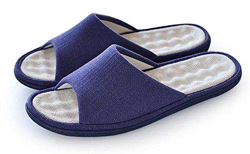 Zapatillas de algodón antideslizantes con puntera abierta, de...