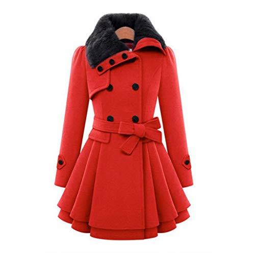 Vrouwen Windbreaker Dubbele Borst Draai Omlaag Kraag Parka Winter Warm Lange Mouw Warm Asymmetrische Hem Mantel Jas Bovenkleding