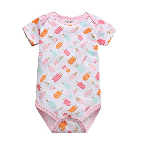 Chickwin Strampler Baby mädchen, Strampler Baby Mädchen Junge Unisex Spielanzug Baumwolle Schlafanzug für Neugeborene, Babies und Kleinkinder in Verschiedenen Größen (18M,Rosa Kegel)
