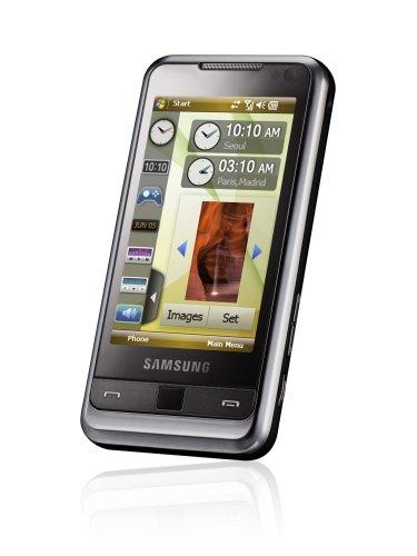 Samsung SGH-i900 Omnia (Navi-Vollversion D-A-CH, 8GB, UMTS/HSDPA, 5MP) modern-black Smartphone ohne Vertrag, ohne Branding, kein Simlock