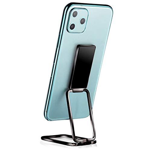 Billion Good Soporte de anillo para teléfono móvil, soporte de dedo plegable de rotación de 360 ° para iPhone iPad tabletas o soporte magnético para coche, color negro