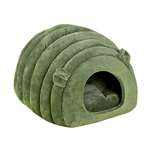 Juesi Cat Bed Cave House, Best for Indoor Cats Houses Heated Kitten Warm Pet Self Warming Caves Igloo Igloo Bed Pet Tent House, GN
