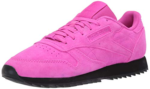 Reebok Classic Leather Ripple, Zapatillas Deportivas. Mujer, Dynamic Pink Dynamic Pink Black, 36.5 EU