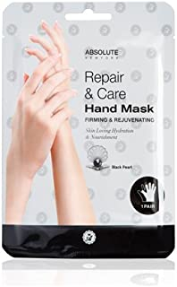 (3 Pack) Absolute Repair & Care Hand Mask - Black Pearl (並行輸入品)