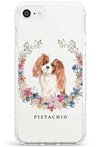 Cavalier King Charles Spaniel Portrait Impact Cover per iPhone 6 TPU Protettivo Phone Leggero con Personalizzato Animale Domestico Nome Amante dei