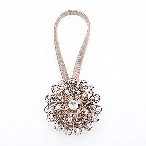 Madeinely Gordijnclips, touw, 1 paar, retro-stijl, bloemengordijn, clips, ophangbeugel, holdbacks voor thuiskantoor