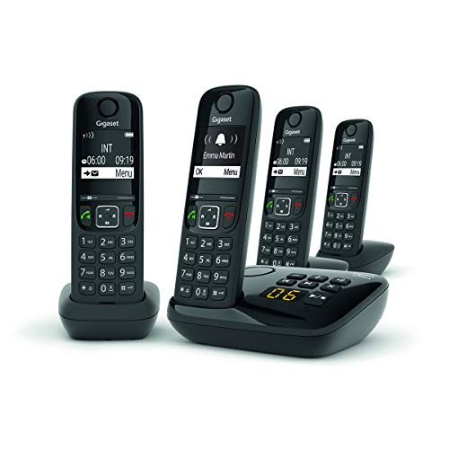 Telefono fisso GIGASET AS690 A Quattro Nero