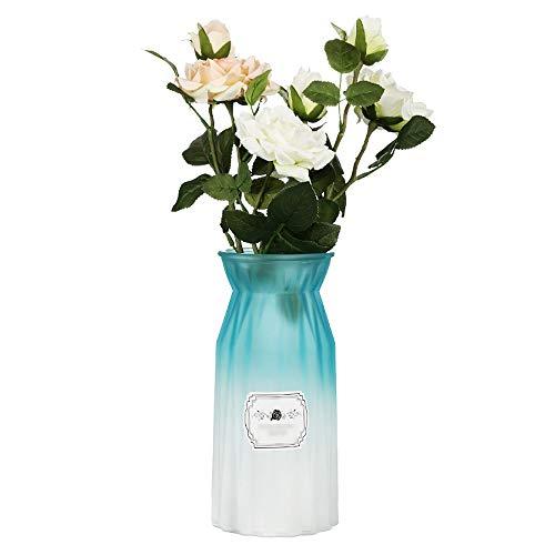 Byx Europese glazen vaas decoratie wijnkast woonkamer tv-kast decoratieve ornamenten creatieve huis decoraties blauw zonder bloemen bloem vaas