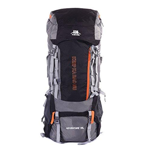 Mooedcoe 95L Mochila Trekking Senderismo Grande Montaña Hombre Impermeable de Viaje