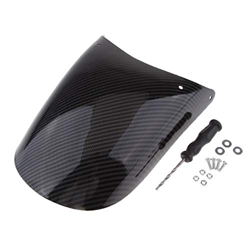 Motorcycle Fenders Universal Motorcycle Front Fender Extender Motorbike Carbon Fiber Front Fender Wheel Mudguard Extension