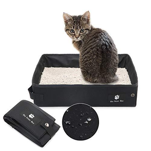 [Penne] 猫 トイレ ペット用トイレ 折りたたみ可能 お出かけ用 携帯 ポータブルトイレ JM-078 (ブラック)
