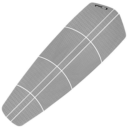 BPS 'Non Slip' 12 Piece Surf SUP Board Deck Traction Pad - 3M Adhesives Diamond Tread for Paddleboard (Black Grey White) (Cool Grey)