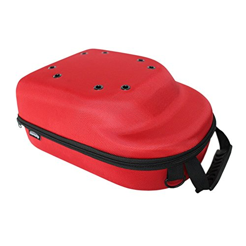 Galexbit Baseball Hat case Cap Carrier Case Holder for 6 Caps Hat bag for Travel Home Gift(Red)