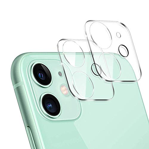 of ulak glass screen protectors ULAK [2 Pack] Camera Lens Screen Protector for iPhone 11 6.1 inch, Anti-Scratch Fingerprint 9H Tempered Glass Camera Lens Protector, HD Clear