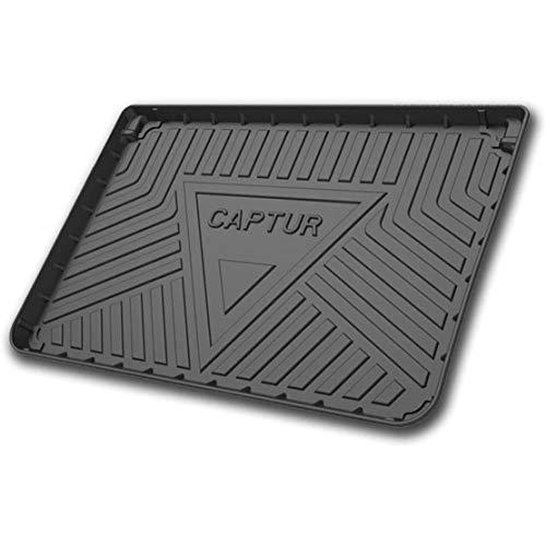 MNBX für Renault Captur 2015-2020 Kofferraummatten Custom Tailored Rubber Trunk Liner Bodenschutz Gepäckablage Wasserdichtes schwarzes Frachtmattenblatt