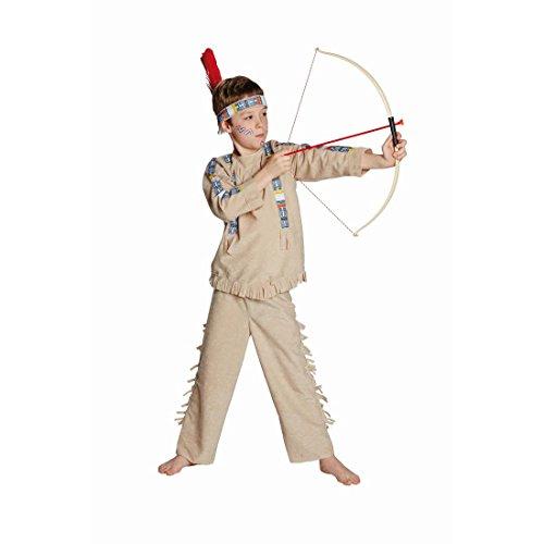 Amakando Kinder Indianerkostüm Indianerhäuptling Westernkostüm 140 cm 8-9 Jahre Häuptling Kinderkostüm Indianer Kostüm Karnevalskostüme Jungen Wilder Westen Faschingskostüm Apache Cowboykostüm