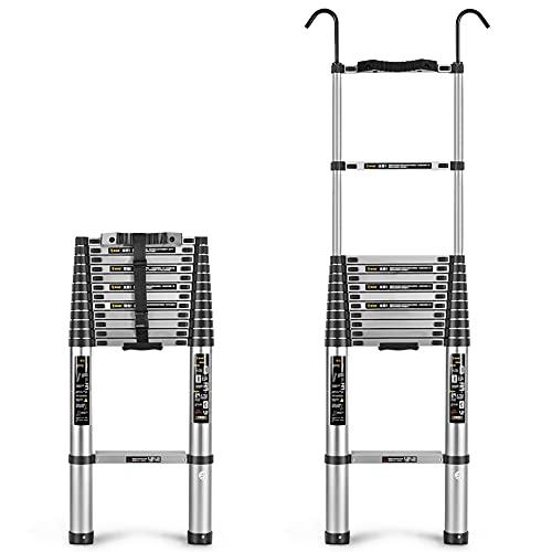 ZHIWUJIA Escalera con Gancho Aleación De Aluminio Uso Industrial Ajustable Fácil De Cargar Escalera Recta(Size:2.9m)