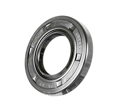 EAI Oil Seal 25mm X 47mm X 7mm (2 PCS) TC Double Lip w/Spring. Metal Case w/Nitrile Rubber Coating