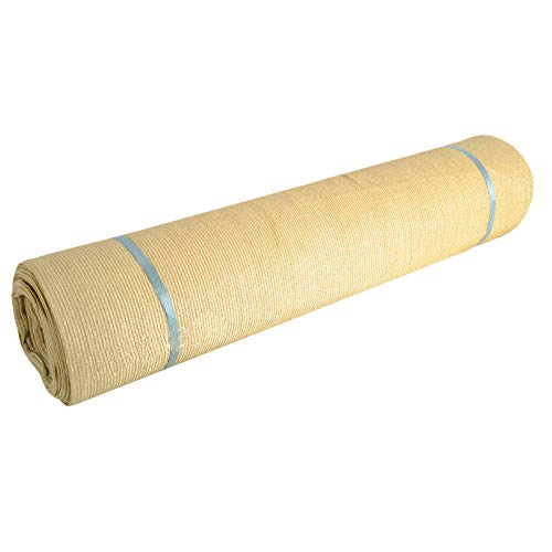 Fence4ever 5'8' x 50ft Tan Beige Sunscreen Shade Fabric Roll 95% Uv Block
