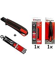 Würth Cutterkniv mattkniv inkl. 3 avbrottslingar och 10 extra avbrottslingar
