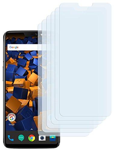 mumbi Schutzfolie kompatibel mit OnePlus 6 Folie klar, Bildschirmschutzfolie (6x)